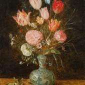 Jan Brueghel der Jüngere  Blumenstrauß in chinesischer Vase, um 1625/27 Öl auf Kupfer auf Holz, 47,6 x 37,1 cm Schätzpreis:50.000 - 100.000 EUR