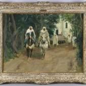 """Otto Dill (Neustadt / W. 1884-1957 Bad Dürkheim) """"Aus Tunis"""", 1950, Öl auf Holzplatte, 60 x 80 cm, rechts unten signiert Schätzpreis:8.000 EUR"""