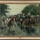 Otto Dill (Neustadt / W. 1884-1957 Bad Dürkheim) Rückkehr von Pferderennen, 1949, Öl auf Lwd., 80 x 100 cm  Schätzpreis:10.000 EUR