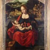 """Coecke van Aelst, Pieter I. (1502 Aalst/Ostflandern - 1550 Brüssel), Umkreis, """"Muttergottes mit Kind"""",  Mindestpreis:3.500 EUR"""