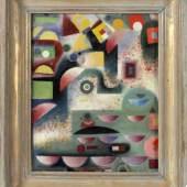 Prof. Boris Kleint (Masmünster 1903-1996 Völklingen) Ohne Titel, 1941, Öl/Lwd., doubliert, 27,5 x 21,5 cm,, Schätzpreis:5.000 EUR