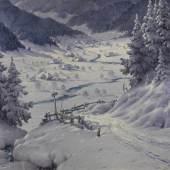"""Hauptmann, Karl """"Im Menzenschwandertal"""", Öl auf Holz, signiert und datiert unten links K. Hauptmann 33, 70 x 80 cm  Mindestpreis:2.900 EUR"""