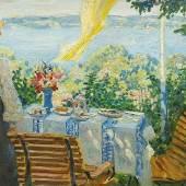 "KLEIN, Philipp. 1871 Mannheim - 1907 Hornegg/Neckar. ""Frau am Starnberger See"".  Mindestpreis:2.900 EUR"
