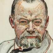 Ferdinand Hodler 1853–1918 Selbstbildnis 1916, Schätzpreis: 120.000 - 150.000 CHF