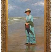 Peder Severin Krøyer (1851 Stavanger - 1909 Skagen) Sommerabend am Strand von Skagen Mindestpreis:38.500 EUR