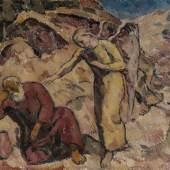 Caspar, Karl 1879 Friedrichshafen - 1956 Brannenburg. Engel in der Wüste. Öl/Lw. 64 x 84,5 cm. Mindestpreis:6.500 EUR