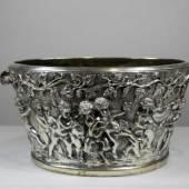 Foundry Del Mar, Schale, 20./21. Jh., mit Puttenrelief, 800er Silber Mindestpreis:1.000 EUR