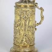 Große Vermeil-Abendmahlskanne Siebenbürgen, Kronstadt (Brasso), Michael Schelling (Meister 1616 - 1652), um 1630 Silber, vergoldet.  Schätzpreis:110.000 EUR