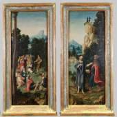 """Niederländischer oder deutscher Meister (Mitte 16. Jh.) """"Predigt Johannes des Täufers"""" Mindestpreis:4.500 EUR"""