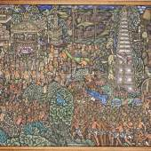 Ida Bagus Made Togog (1913-1989), Vielfigurige Darstellung eines religiösen Zeremonie,Mindestpreis:1.800 EUR
