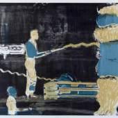 Rauch, Neo Hanno.  1960 Leipzig Löschung. Farbiger Lichtdruck. Sign., bet., dat. und num. (19)96. Ex. 9/10. 52,5 x 74,5 cm.  Aufrufpreis:3.000 EUR