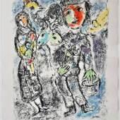 "CHAGALL Marc (1887 Witebsk - 1985 Paul de Vence) ""Couple des Paysans"" Bäuerliche Szene - Mutter mit Kindern, Mindestpreis:6.000 EUR"