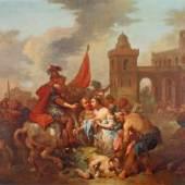 """Seekatz, Johann Conrad (1719 Grünstadt - 1768 Darmstadt), zugeschrieben, """"Raub der Sabinerinnen (?)"""",  Mindestpreis:8.000 EUR"""