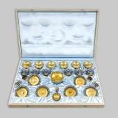 Teeservice für sechs Personen, Rußland/Sowjetunion, 2. H. 20. Jh., Silber 916/000 Mindestpreis:5.000 EUR