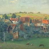 """BRACHT, Eugen (1842-1921), """"Odenwälder Dorf"""", Öl/Lwd., 70 x 85,5, Mindestpreis:3.500 EUR"""