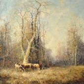 """PIPPEL Otto (1878-1960/Lodz-München) """"Kühe im Wald"""", Mindestpreis:1.500 EUR"""