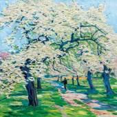 Carl Arp (Kiel 1867 - Jena 1913) Blühende Obstbäume, Mindestpreis:8.000 EUR