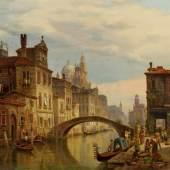 Jaeckel, Henry (Heinrich) (vor 1842 tätig - nach 1876, in Berlin tätiger Landschaftsmaler, dessen Motive häufig aus Italien und dem Alpenraum stammen, Mindestpreis:2.000 EUR