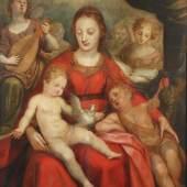 """AACHEN, Hans van (1552-1615), """"Muttergottes mit Kind und dem Johannesknaben"""", Öl/Holz, 116 x 97, Mindestpreis:15.000 EUR"""