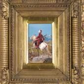 Franz Roubaud (1856-1928), Berittener Tscherkesse im Kaukasus, Mindestpreis:1.800 EUR