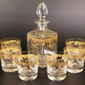 Whiskeykaraffe und 6 Gläser - Kristallmanufaktur Saint-Louis, Frankreich Aufrufpreis:250 EUR