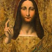 Lombardische Schule um 1530 Nachfolger von Giampietrino (1495–1540) Salvator Mundi Öl auf Holz 60 x 45,5 cm  Schätzpreis:40.000 - 60.000 CHF