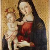"Maestro della Madonna di Orte (tätig in Viterbo um ca. 1490 - 1520), ""Madonna und Kind"",  Mindestpreis:15.000 EUR"