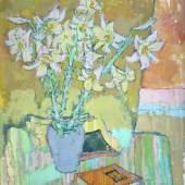 """Manigk, Otto (1902 Breslau – 1972 Ückeritz)  """"Lilien"""" Öl auf Leinwand, unsigniert, 1951, Maße: 84x74 cm Aufrufpreis:12.000 EUR"""