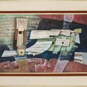 "Gunther Gerzso Wendland (1915-2000), Abstrakte Komposition, Öl/Hartfaser, u. re. sign. ""Gerzso"", Mindestpreis:35.000 EUR"