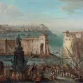 """Poli, Gherardo (Florenz 1674-1739 Pisa) und Giuseppe (Florenz 1700 - 1767 Pisa), zugeschrieben, """"Der alte Hafen von Livorno/Vedute (di fantasia) del Porto di Livorno"""",  Mindestpreis:8.000 EUR"""