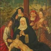 """NELKENMEISTER, Gruppe der (tätig 1479-1510), zugeschr., """"Beweinung Christi"""", Mindestpreis:20.000 EUR"""