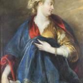 """Thulden, Theodor van (1606 's-Hertogenbosch - 1669 ebda., in Antwerpen Schüler von Abraham Blyenburch sowie von Peter Paul Rubens, Personifikation der Chymica"""" Mindestpreis:6.000 EUR"""