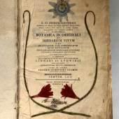 "HERBARIUM D. IO. Hieron. Kniphofii, ""Botanica in Originali sev Herbarium vivvm in qvo plantarvm tam indigenarvm qvam exoticarvm..."",  Mindestpreis:500 EUR"