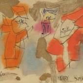 "Lyonel Feininger 1871 New York - 1956 New York - ""Ghosties (MERRY XMAS!)"" Aufrufpreis:9.000 EUR Schätzpreis:12.000 EUR, Zuschlagspreis:13.000 EUR"