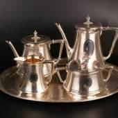 Kaffee-/Teeset Koch & Bergfeld - Silber, innen teilweise vergoldet Aufrufpreis:2.200 EUR