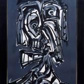 "Antonio Saura (1930 in Huesca - 1998 in Cuenca) ""Dame"", 1985, Mischtechnik auf Papier, Aufrufpreis:28.000 EUR"
