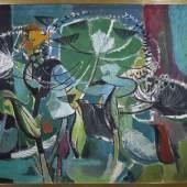 Hans Schröers, 1903 Düsseldorf - 1967 ebenda, Nächtlicher Garten, Mindestpreis:500 EUR