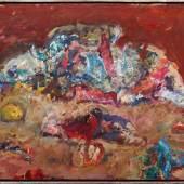 """Marwan Kassab-Bachi, gen. Marwan (1934 in Damaskus, Syrien - 2016 in Berlin) """"Marionette"""", 1981, Öl auf Leinwand, o.r. sign. Aufrufpreis:55.000 EUR"""