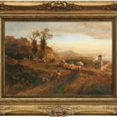 Achenbach, Oswald Erntearbeiter bei der Rast in italienischer Landschaft, Schätzpreis:8.000 EUR
