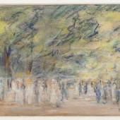 """Max Liebermann 1847 Berlin - 1935 Berlin - """"Parklandschaft"""" Aufrufpreis:10.000 EUR Schätzpreis:20.000 EUR"""