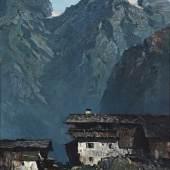 Oskar Mulley 1891 Klagenfurt - 1949 Garmisch - Bergbauernhof - Öl/Lwd. Aufrufpreis:35.000 EUR Schätzpreis:45.000 EUR