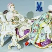 "Figurengruppe ""Der entdeckte Liebhaber"". Um 1990. Modell von Johann Joachim Kaendler um 1770. Modell Nr. 73336. Mindestpreis:500 EUR"