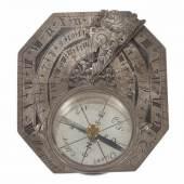 Sonnenuhr Macquart, Paris, Frankreich, 18. Jh, Silber... Mindestpreis:1.000 EUR
