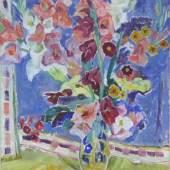 Caspar Filser Maria 1878 - 1968, Öl auf Leinen, Blumenstrauß in der Vase, Mindestpreis:2.000 EUR