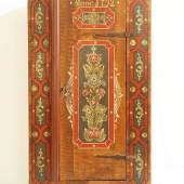 Bemalter Schrank, Süddeutschland, datiert ANNO 1792. Mindestpreis:300 EUR