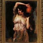 Schmutzler, Leopold, 1864 Mies - 1941 München Öl/Platte, 95 x 72,5 cm, Mindestpreis:2.400 EUR