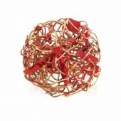 Giampaolo Babetto Designer-Ring (geb. 1947 in Padua) Arquà Petrarca, um 2002. Signiert. 750 Gold. Drahtkonstrukt mit roter Pigmentierung. Gr. 49, 17,2 g. Schätzpreis:2.000 - 4.000 CHF