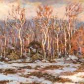 Elisabeth von Eicken (1862 Mülheim/Ruhr - 1940 Michendorf bei Berlin) Winter auf dem Darß. Schätzpreis:4.600 - 5.200 EUR