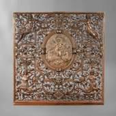 Prächtiger Kaminschirm Bronze Entwurf K. Walther, modelliert von G. Leistner, Aufrufpreis:3.000 EUR