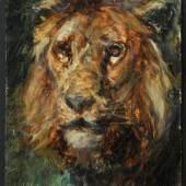 "Meyerheim, Paul Friedrich, 1842 - 1915 Berlin Öl/Holz, 36 x 23 cm, "" Kopf eines Löwen "",  Mindestpreis:500 EUR"